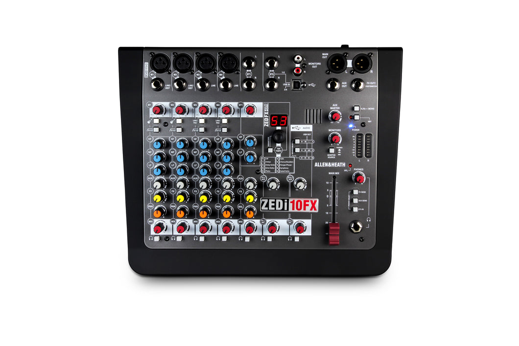 ZEDi 10FX Mixer 4 Mono+2St 1Aux MULTI Track USB Interface
