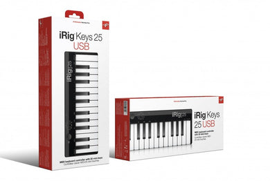 iRig Keys 25 The 25 mini-key USB MIDI controller for Mac/PC IP-IRIG-KEYS25-IN