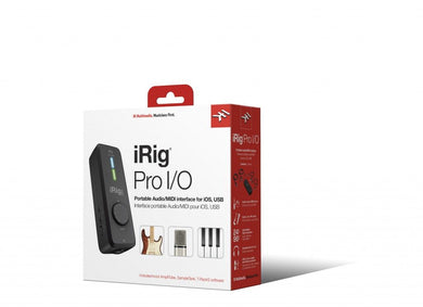 IK Multimedia iRig Pro I/O Audio and MIDI Interface for Mac, Windows & iOS IP-IRIG-PROIO-IN