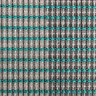 Mellotone Grill Cloth - Silver/Teal