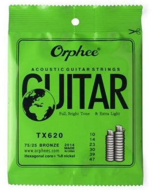 Acoustic steel strings set Orphee-TX620 series 10 gauge steel strings