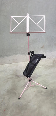 Hamilton Advanced Folding Music Stand with Bag - Pink