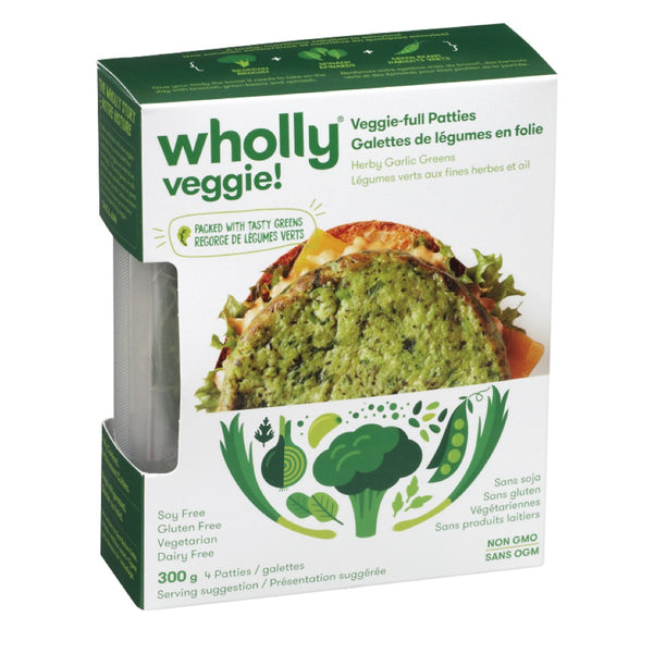 Wholly Veggie Herbs Garlic Greens Patties