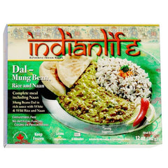 Indian Life Dal Mung Bean Rice & Naan