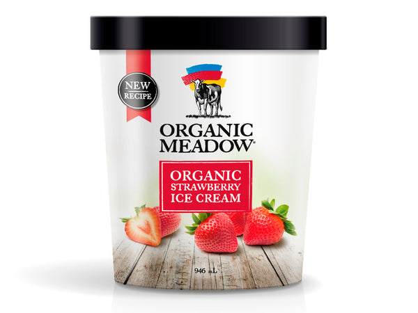 Organic Meadow Ice Cream Strawberry