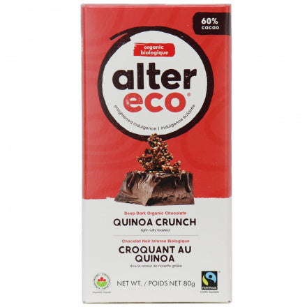 Alter Eco Quinoa Crunch Chocolate Bar