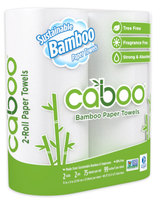 Caboo Sustainable Paper Towels 2 pack