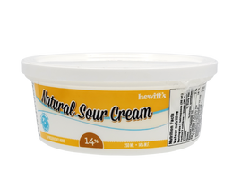 Hewitt's Natural Sour Cream 14% 250 g