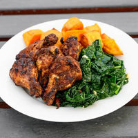 Jerk Chicken and Kale