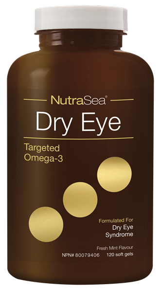 NutraSea Dry Eye Targeted Omega-3 - Fresh Mint 120 soft gels