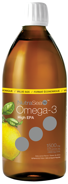 NutraSea HP (High Potency) Omega-3 - Lemon 500 ml