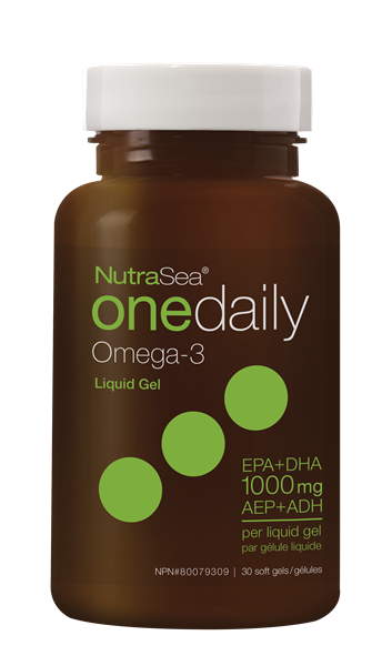 NutraSea Omega-3 One Daily Liquid Gels - Fresh Mint 30 soft gels