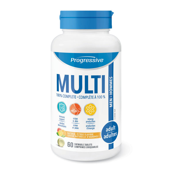 Progessive Chewable Multivitamin for Men 60 tablets