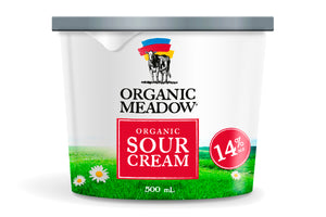Organic Meadow Sour Cream 14% Mf