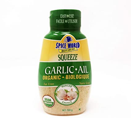 Spice World Organic Minced Garlic 10 oz