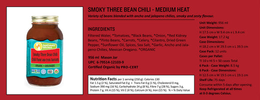 Sunflower Kitchen Organic Chili Smoky 3 Bean