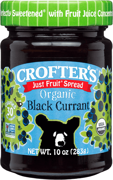 Crofter's Organic Just Fruit Spread Black Currant 235 ml