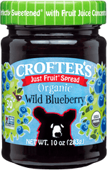Crofter's Organic Just Fruit Spread Wild Blueberry 235 ml
