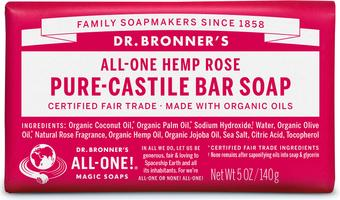 Dr. Bronner's Rose Castille Bar Soap