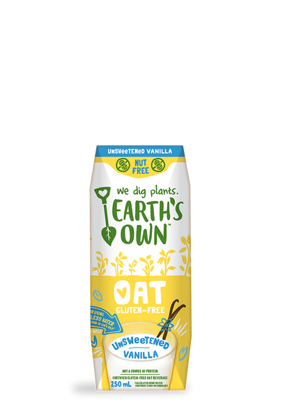 Earth's Own Unsweetened Vanilla Oat Beverage 3 pack