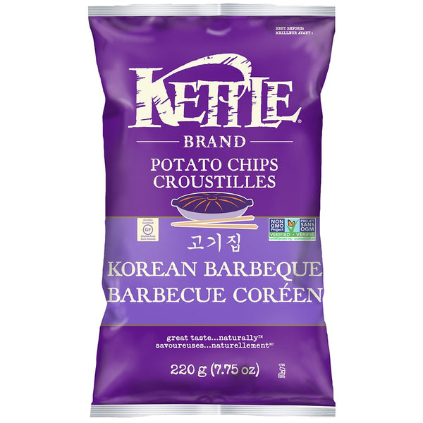 Kettle Korean Barbeque Potato Chips 220 g
