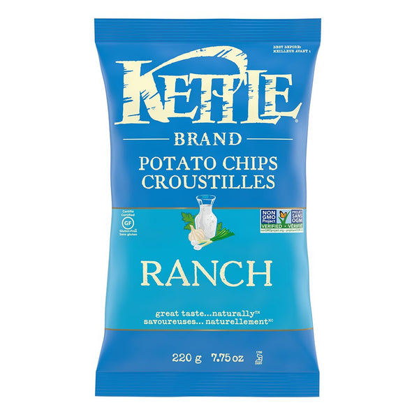 Kettle Ranch Potato Chips 220 g