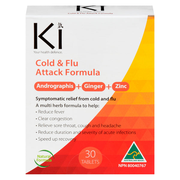 Ki Cold & Flu Attack Formula 30 tablets