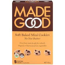 MadeGood Soft Baked Mini Cookies No Nut Butter