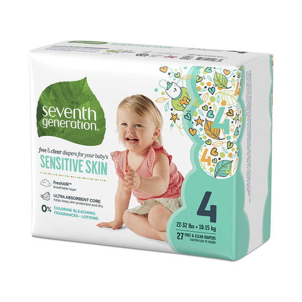 Seventh Generation Free & Clear Diaper Size 4