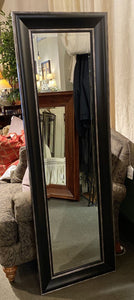 "55.5"" H 21""W 1.5""D Black Framed Full Length Mirror"