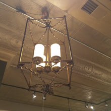 Load image into Gallery viewer, Rustic Bird Cage Candlelight Chandelier