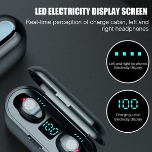 Airpod Bluetooth V5.0 TWS Afficheur LED avec Microphone