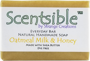 Everyday Natural Handmade Bar Soap – Oatmeal, Milk & Honey - Dye Free