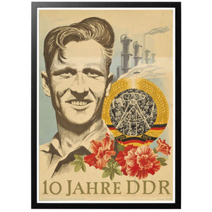10 Jahre DDR Poster