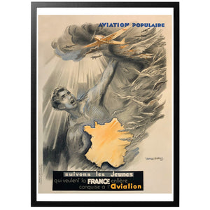 Aviation populaire - fransk poster