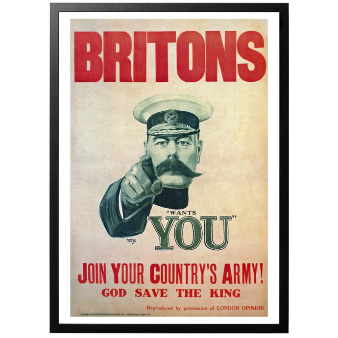 Britons wants YOU - Join Your Country's Army! God save the King - brittisk WWI poster