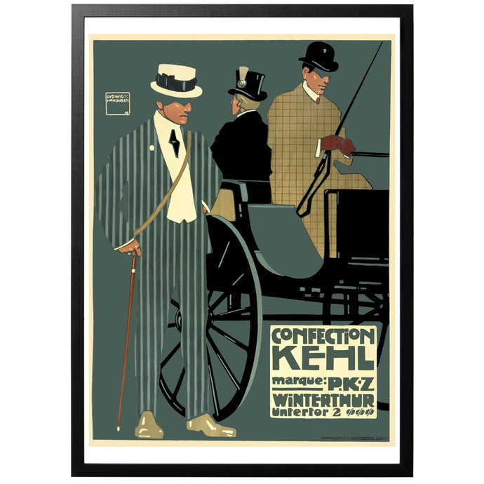 Confection Kehl vintage poster med ram.