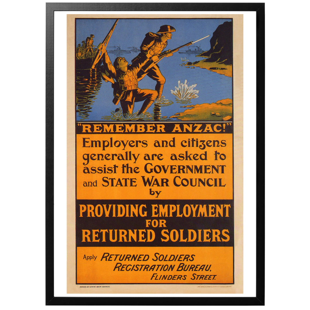 Remember ANZAC! Poster