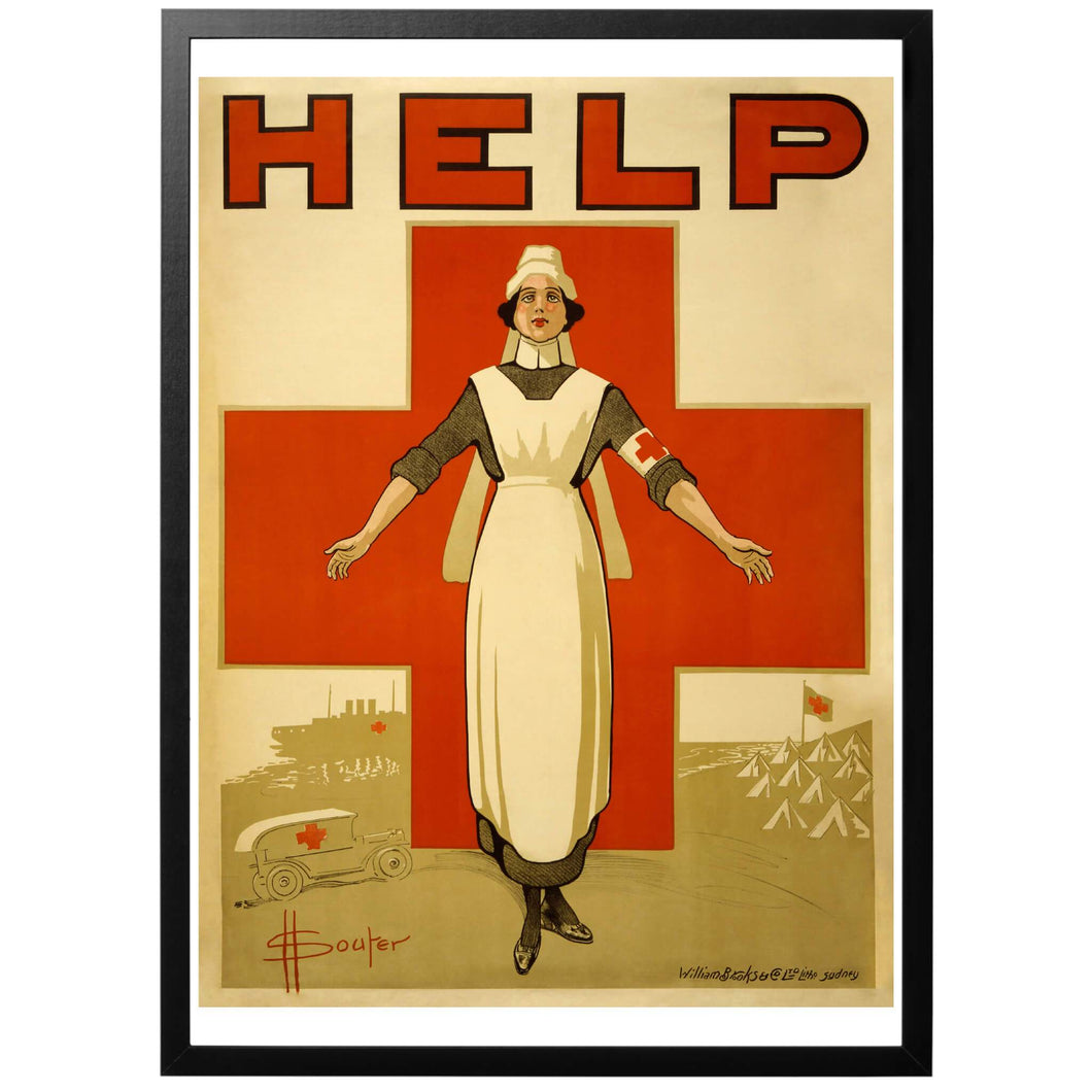 HELP - Red Cross Nurse Poster