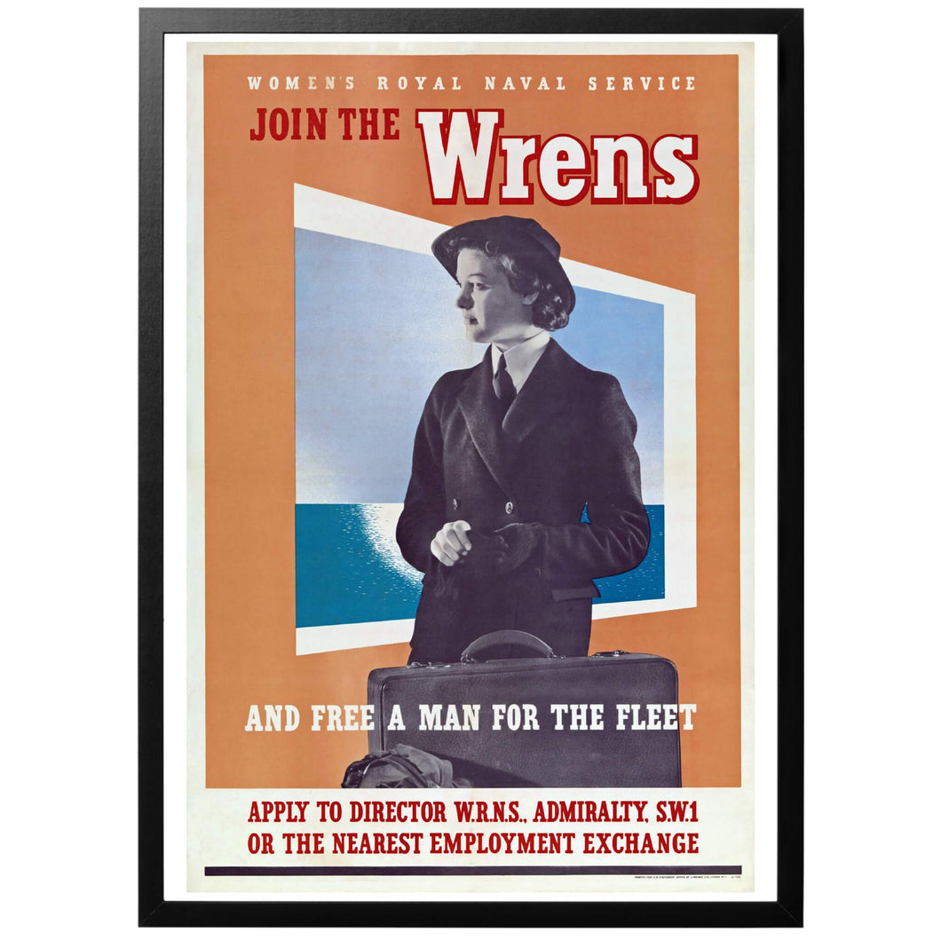 Join the Wrens and free a man for the fleet  - Anslut dig till Wrens och frigör en man till flottan