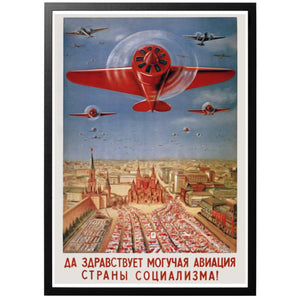 Long Live The Mighty Aviation of The Socialism Country Poster