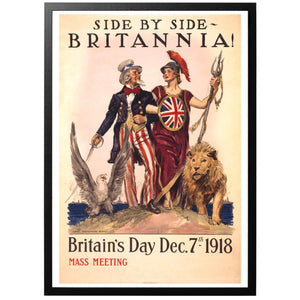 Side by side - Britannia Britain's Day Poster