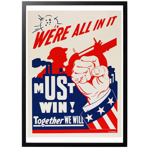 We're all in it - Must Win! Poster