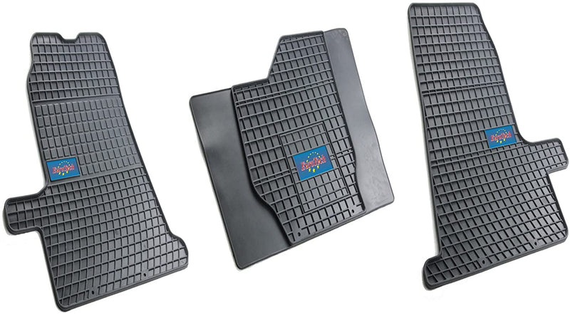 Car Mats - Ford Transit Connect 2013 - Current - No Smell - Custom Cut 3pc set MADE IN EUROPE