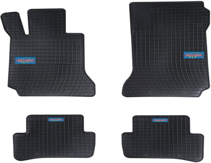 Car Mats For Mercedes C Class W204 2007 - Current - No Smell - Custom set MADE IN EUROPE