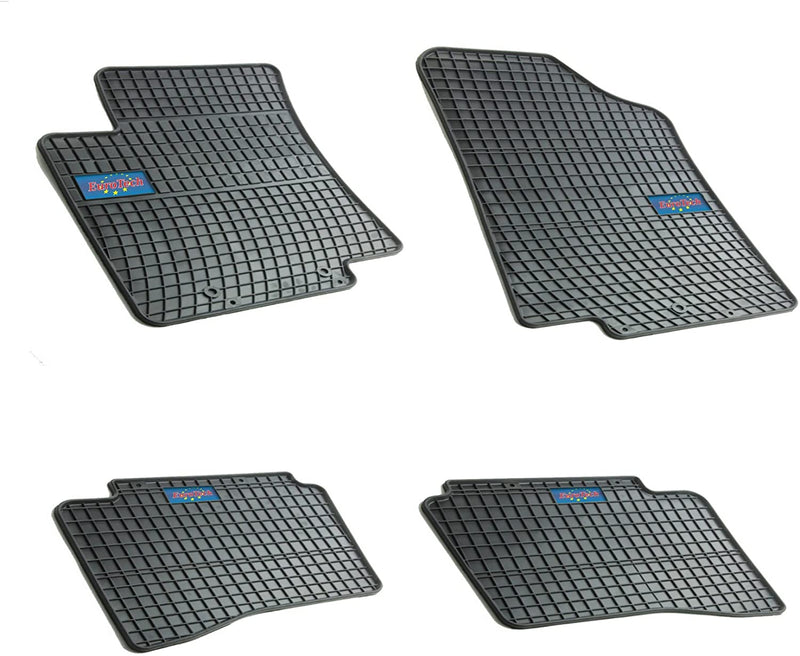 Car Mats For Kia Rio III 2011-2017 - No Smell - Custom Cut 4pc set MADE IN EUROPE