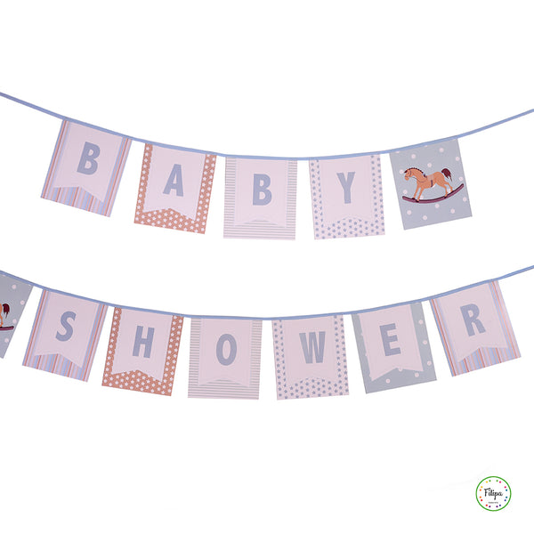 BANDERIN PARED PARA BABY SHOWER