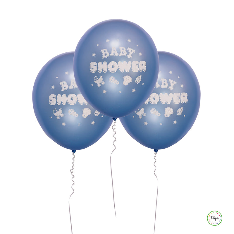 GLOBOS BABY SHOWER AZUL (5 U.)