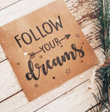 POSAVASOS FOLLOW YOUR DREAMS (12U)