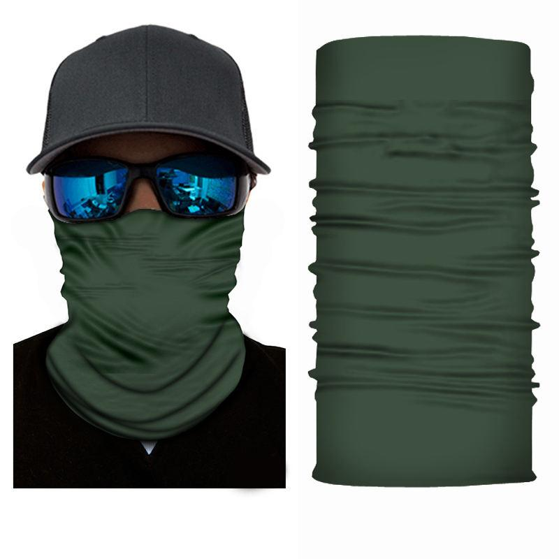 Green Bandanna Face Shield